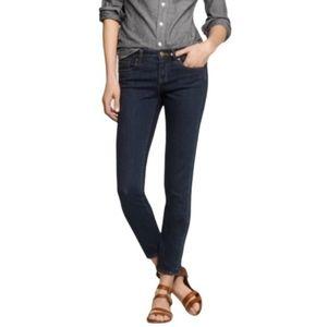 J. CREW toothpick ankle jeans dark wash. Sz 25
